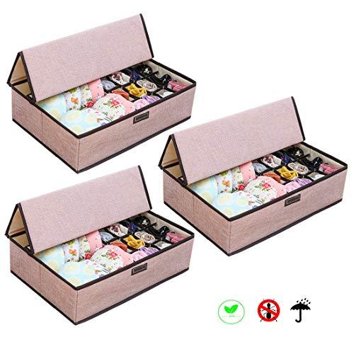 SXLJL Schublade Organizer 3 Pack Stapelbare Durable Aufbewahrungsbox Kleiderschrank Schminktisch Schublade Unterwäsche Handwerk Baby Kleidung Büro Badezimmer (Baby-schublade Veranstalter)