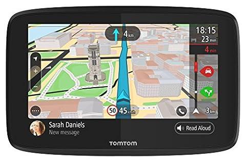 TomTom GO 620 1PN6.002.01 Navigationsgerät (15,2 cm (6 Zoll), Updates via WiFi, Smartphone Benachrichtigungen, Freisprechen, Lebenslang Karten (Welt), Traffic über Smartphone (Navigationsgerät Kaufen)