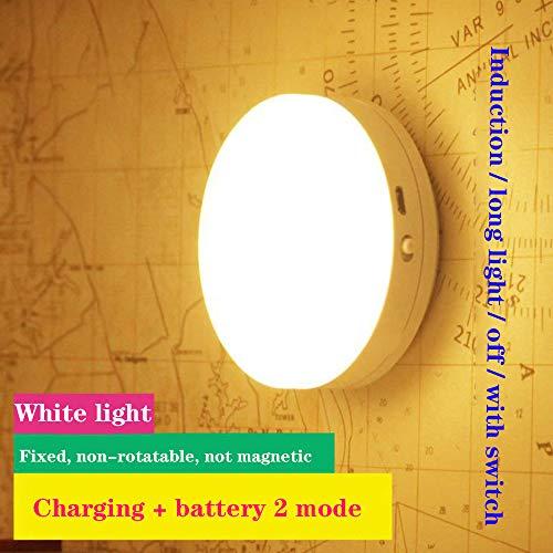 Aione Sensor Nachtlicht Menschlicher Körper IR-Sensor Automatischer Magnet LED-Nachtlicht Nachttisch wiederaufladbar für Unterbett Küchenbeleuchtung,3 -