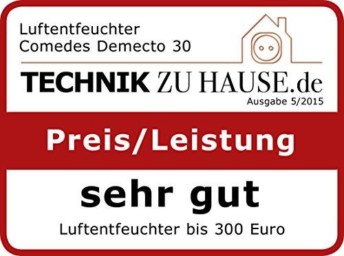 Comedes Demecto 30 - Leistungsstarker Luftentfeuchter für große Bäder, Wohn- und Kellerräume bis 230m³, bis zu 33 l/Tag