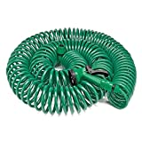 Best Coiled Garden Hoses - 30 Metre Coil 100ft Retractable Garden Hose Pipe Review
