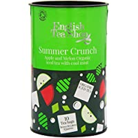 English Tea Shop Organic Summer Crunch Iced Tea Apple and Melon (Pack of 2, Total 20 Family Sized Tea Bags)