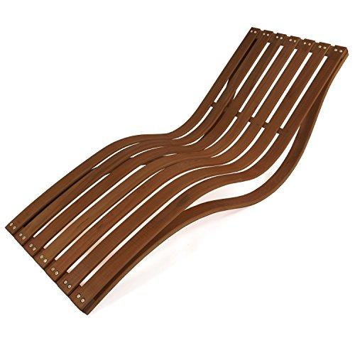 Rustikale Gartenmöbel (Wellnessliege Capri | Gartenliege ergonomisch geschwungen | stabile Relaxliege für Garten und Sauna | wetterfeste Gartenmöbel aus Holz)