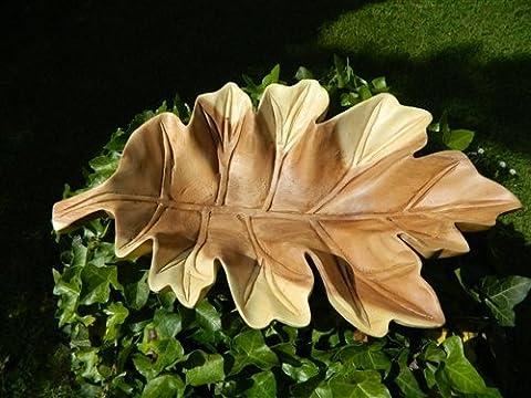 Wooden Leaf Bowl - Oak Leaf Bowl Fruit