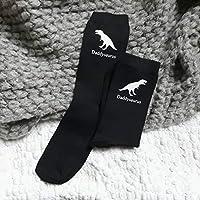 Daddysaurus Socks, dinosaur socks, socks for dad, custom socks, dinosaur clothing, trex