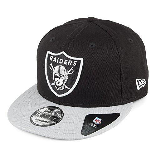 Casquette Snapback Super Snap des Oakland Raiders New Era - Noir-Gris-Beige Clair - Medium/Large