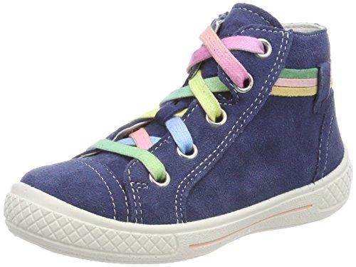 (Superfit Mädchen Tensy Hohe Sneaker, Blau (Water Kombi), 31 EU)