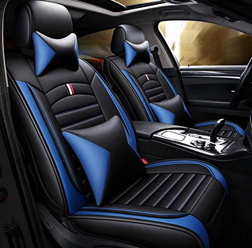 Four Seasons Ledersitzbezug, umweltfreundlich, abriebfest, wasserdicht, Sommersitzbezug für die meisten Fünfsitzer,Blue Ford Taurus Stereo
