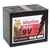 VOSS.farming Weidezaun Alkaline Batterie 9 Volt | 180Ah für Weidezaungerät 9V | konstanter Spannungsverlauf | geeignet für Solarset