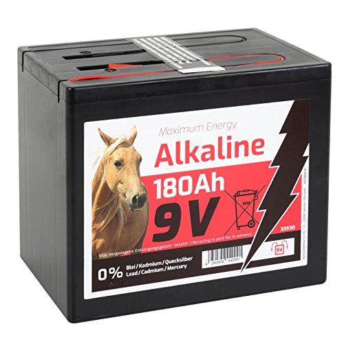VOSS.farming Batterie sèche Alkaline 180 Ah 9V pour clôture électrique - Adaptée aux appareils solaires - Grand modèle