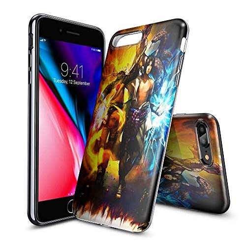 BAI JING Handyhülle für iPhone 5/5s/SE, Ultra Slim Clear TPU, Stoßfest und Kratzfest - KUNDENGERECHTE Muster [BJDE201905150] (5s-naruto-fall Iphone)