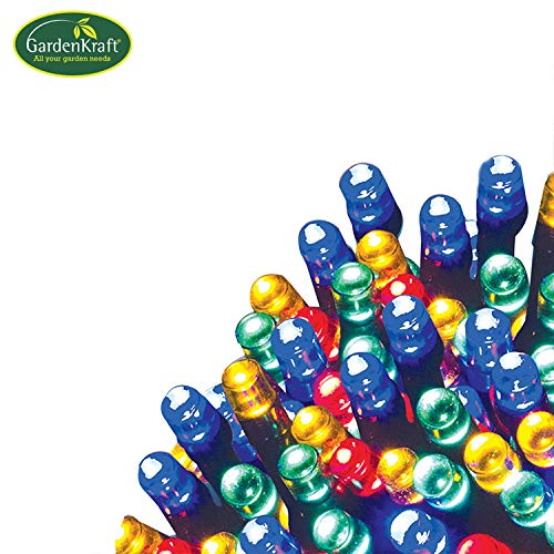 Garden kraft Tooltime Guirlande Lumineuse 50 LED à énergie Solaire Multicolore 50 LED Solar String Lights 50 LED