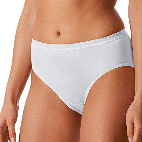 Mey 2er Pack Damen Hüftslips Lights - 89202 - Weiß - Größe 42 - Damen Hipster ohne Seitennähte - Baumwolle + Viskose