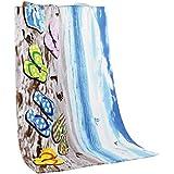 LvRao 1 pieza Toallas de Baño de Algodón Toallas de Playa Grandes Absorbente Toalla para Playa Zapatilla 140×70cm
