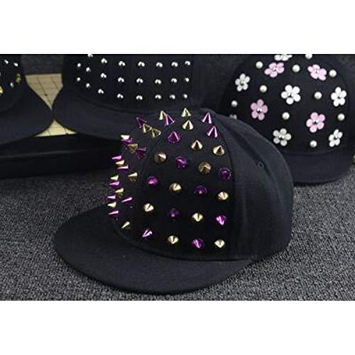 WYKDA Mode Hysteresenhut Punk Igel Rock Hip Hop Blume Niet Stud Spike Spiky Hut Cap Baseball Cap Für 3-8Yrs Kinder