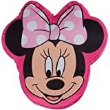 Character World Disney Minnie Mouse Makeover Shaped Plush Cushion, Multi-Color