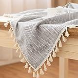 QPG Nappe Minimaliste Moderne Tissu Coton Petit Frais Littéraire Japonais Nappe De Jardin Rectangulaire Table Ronde Table Basse 100 * 140 Cm ( Couleur : C )