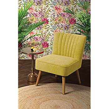 Great MY Furniture   Oyster Mustard Yellow High Quality Upholstered Retro  Occasional Chair   Lola