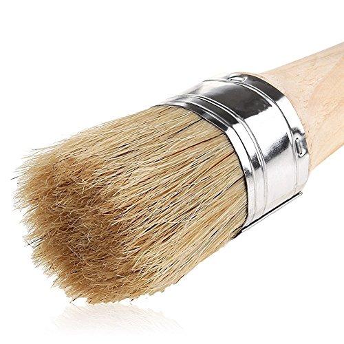 ie Malerei und Waxing | 40mm Naturborsten Rund Wachs Pinsel für Möbel Malen, perfekt für Möbel Schablonen Holz HOME DECOR ()