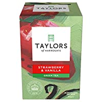 Taylors of Harrogate Strawberry & Vanilla Green Tea, 20 Teabags (Pack of 3)