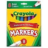 Crayola 8ct Broad Markers Bold