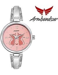 Armbandsur silver case pink dial watch-ABS0045GPS