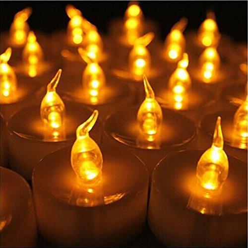 DISOK - Velas Led Decoración Velitas decorativas Pilas incluidas Baratas (Sin Cera, Ni Humo) - Decoración de Eventos, Bodas, Chiringuitos, Celebraciones