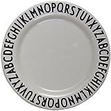 Design Letters - Melamin Teller - 20 cm - ABC - Arne Jacobsen