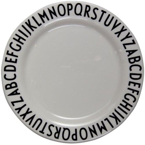 Design Letters - Melamin Teller - 20 cm - ABC - Arne Jacobsen Design Teller