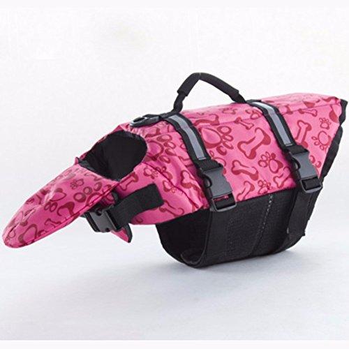 Pet Online Rettungsweste für Hunde Pet Schwimmweste Schwimmen Wasserdicht reflektierende Floatation Vest, Rosa, S -