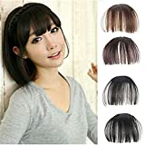 OrliverHL Synthetic Hair One Piece Straight Clip In Hair Extensions Flat Air Fringe Front Bangs