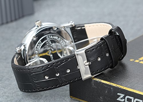 Lancardo 2pcs Herren Damen Freundschafts Armbanduhr, Casual Analog Quarz Kalender Zeitloses Strass Design klassisch Uhr für Lieben Valentinstag Paar Paare Geschenk, Leder Armband, schwarz