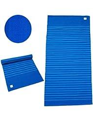 Esterilla de yoga de algodón »Hathi« / 100% algodón / 195 cm x 69 cm / Disponible en una gran variedad de vivos colores / Azul Marino y Azul Celeste