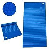 Baumwoll-Yogamatte »Raksha« / 100% Baumwolle / 195cm x 69cm / blau