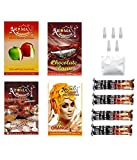 #4: Alshan Aroma Happiness Herbal Hookah Flavour Combo of 4 Pack Plus 4 Rolls of Charcoal Plus Filter Tips Plus Foil
