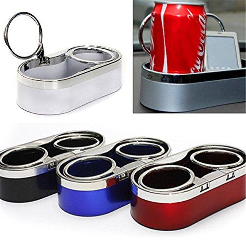 Preisvergleich Produktbild OUTERDO KFZ Auto Halter Dosenhalter Getränkehalter Cupholder Flaschenhalter Becherhalter Rot