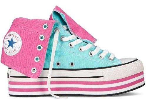 Converse  Hi Ct Platform Xhi, Baskets pour femme rosa/himmelblau