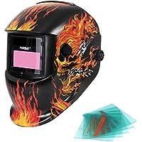 Yorbay Soldadores máscara de oscurecimiento automático de solar con 5 lentes ...