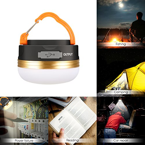 51DAIv8iSML. SS500  - Camping Light, GLISTENY Waterproof tent Light outdoor LED Lantern with 1800mAh Power Bank, 5V USB Rechargeable Built-in Battery, Magnetic Portable with 3 Modes for Camping, Hiking, mountaineering