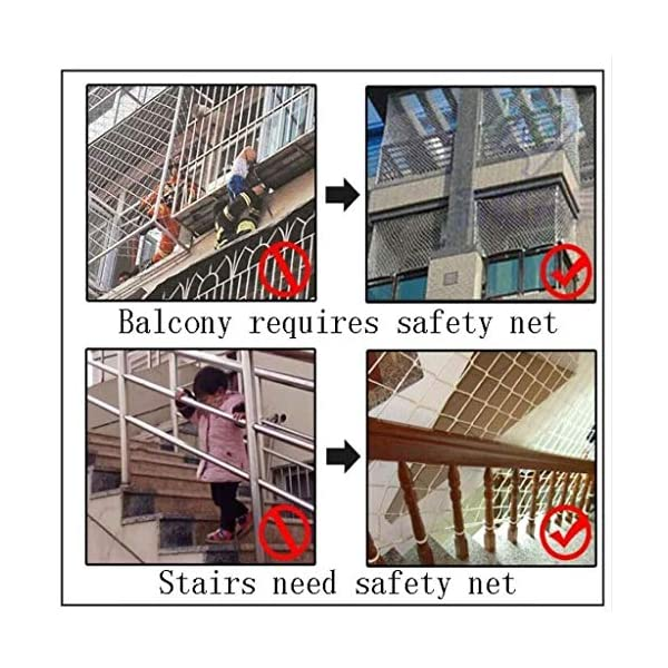 Balcony protection net, stair shatter-resistant net, terrace safety net, nursery fence net, playground park stadium fence net hammock swing (Size : 10 * 10M(33 * 33ft))  ◆ Safety net wire diameter 6MM, mesh spacing 10CM.Color: white rope net.Our protective mesh can be customized according to your needs. ◆Protective net material: Made of nylon braided rope, hand-woven, tightened.Exquisite workmanship, solid and stable, can withstand 300kg weight impact. ◆Features of decorative net: soft material, light mesh, multi-layer warp and weft, fine wiring, fine workmanship; clear lines, non-slip durable, anti-wear. 7