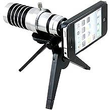 Apexel - Juego de objetivos telescópicos con trípode y carcasa para iPhone 6 (zoom óptico de 12x)