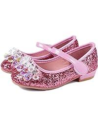 7ea08966b Aclth Zapatos de Correa de Tobillo para niños Niños Niñas Mary Jane Wedding  Party Shoes Brillo