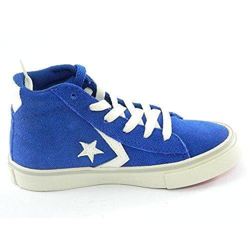 Converse Pro Leather Vulc Mid Suede unisex bambino, pelle scamosciata, sneaker alta blu