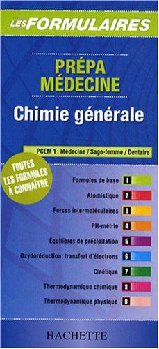 Chimie générale : Prépa médecine PCEM 1