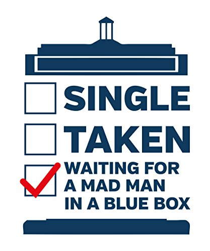 -- Mad Man in a Blue Box- Who -- Girls T-Shirt auch im Unisex Schnitt Weiß