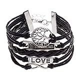 (Schwarzes) Armband - Geflochten - Die Heiligtümer des Todes - Baum des Lebens - Unendlichkeit - Bester Freund - Liebe - Mann - Frauen - Unisex