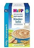 Hipp Gute Nacht Bio-Milchbrei Kinderkeks, 1er Pack (1 x 500g)