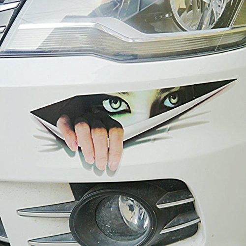 POSSBAY Lustig 3D Autoaufkleber Starrende Monster Augen für Auto Fenster Dekoration Wand
