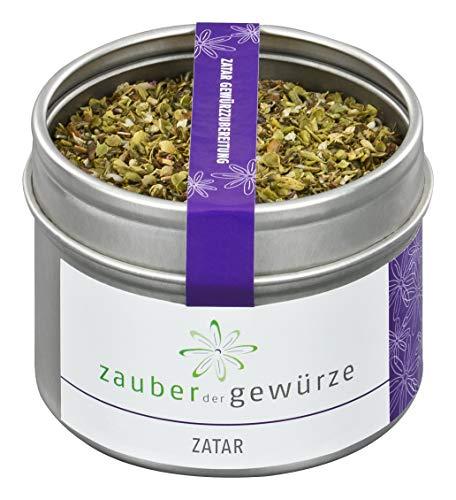 Zauber der Gewürze Zatar - Gewürzzubereitung in Premium-Qualität - Nordafrikanisches Gewürz in Aromadose - Beliebtes Grill-Gewürz - Auch als Geschenk geeignet, 35g
