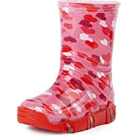 Ladeheid Children´s Wellington Boots SwkBW 03 (Pink Heart, EU 21/22=UK 4.5/5.5 Kids)